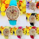 Fashion New Womens Ladies Watches Faux Leather Strap Analog Quartz Wrist Watch