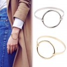 High Quality Stainless Steel Charm Women Circle Cuff Bangle Bracelet Jewelry