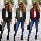 New Womens Ladies Classic Padded Bomber Jacket Vintage Zip Up Biker Coat Stylish