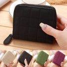 Women's Mini Leather Bifold Wallet Zipper Clutch Card Holder Purse Lady Handbag