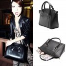 Fashion Large Women's Faux Leather Satchel Crossbody Bags Tote Handbag Bag Black
