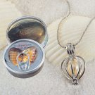 1 Set Love Best Wish Necklace Pearl Necklace Oyster Drop Pendant Necklace Gift