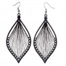 fashion black cute handcraft thread dangle earrings jewelry gift