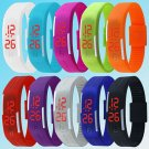 Mens Womens Striking Silicone Red LED Sport Bracelet Touch Digital Wrist Watch