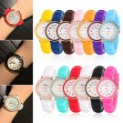 Geneva New Women Men Silicone Jelly Watches Quartz Analog Wrist Watches Unisex