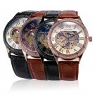 Luxury Automatic Steampunk Leather Mens Mechanical Dress Watch Brown/Black