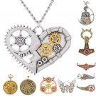 New Retro Vintage Steampunk Jewelry Machinery Gear Pendant Necklace Choker Chain