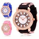 Womens Watches Quartz Jelly Silicone Analog Sports New Ladies Wrist Watch