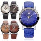 Men Luxury Stainless Steel Analog Quartz Military Sport Leather Dial Wrist Watch