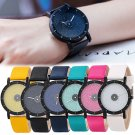 Casual Girls Women Glitter Face Leather Band Analog Quartz Frosted Wristwatches