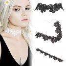 Vintage Retro Lace Velvet Crystal Charm Pendant Choker Necklace Gothic Jewelry