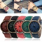 Men Women's Retro Jean Fabric Band Round Casual Cowboy Analog Quartz Wrist Watch