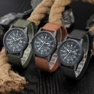 New Fashion Mens Military Canvas Band Date Quartz Analog Sports Wirst Watch