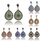 Lady Women Elegant Crystal Vintage Drop Dangle Rhinestone Ear Stud Earrings Gift