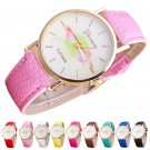 NEW Fashion Geneva Women Girl Casual Wrist Watch Lip Leather Band New Design
