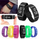 Unisex LED Red/White Light Silicone Digital Sport Bracelet Wrist Watch