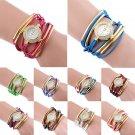 Fashion Rhinestone watches women's Crystal Quartz Bracelet Bangle Wrist Watches