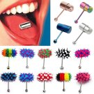 Fashion Style Vibrating Ring Tongue Bar Body Jewelry Piercing Stud