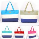 Fashion New Women's Canvas Stripe Shoulder Bag Tote Bag Handbags Purse Big Bag