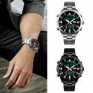 Casual Digital Men Quartz Sport Army Analog Date LED Stainless Steel Wrist Watch