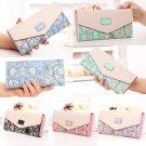 Women's Ladies Floral Envelope Clutch Purse Long Handbag Coin Bag Leather Wallet