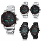 Naviforce Waterproof Stainless Steel LED Date Analog Digital Men Quartz Watches