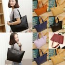 Fashion Women Leather Handbag Shoulder Tote Satchel Large Messenger Bag Purse
