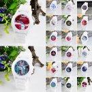 Women Fashion Silicone Strap Jelly Flower Quartz Analog Sports Wrist Watch