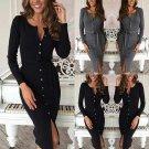 Womens Winter Long Sleeve Slim Sweater Jumper Knit Ladies Bodycon Pencil Dress