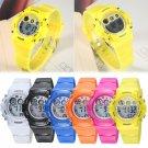 OHSEN Women's Waterproof LED Quartz Sports Casual Wrist Watch Stop Watches