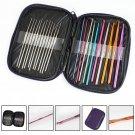 22pcs Multi colour Crochet Hooks Yarn Knitting Needles Set Kit with Case