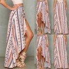 Boho Women Ladies Summer Bandage Beach Dress Sundress Party Maxi Long Skirt NEW