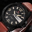Luxury Men's Calendar Leather Business Casual Military Date Week Wirst Watch