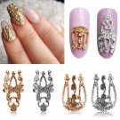 3D Hollow Nail Art Alloy Decoration Jewelry Glitter Rhinestone 10pcs