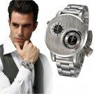 Luxury Men's Stainless Steel Date Military Sport Quartz Analog Wrist Watch New