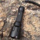 Waterproof Black Portable Outdoor High Brightness C8 LED Flashlight Torch Lamp