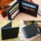 New Men Bifold Casual Leather Wallet Money Card Holder Coin Bag Purse Gift Black