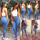 New Women's Slim High Waisted Skinny Pencil Stretch Pants Trousers Leggings