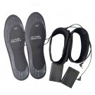New Heated Insoles Electric Battery Powered Winter Shoes Keep Feet Warm Black