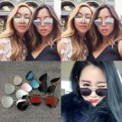 Women's Fashion Celeb Multi Polygon Aviator Mirrored Outdoor Eyewear Sunglasses