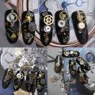 New 1 Box 3D DIY Nail Art Metal Gear Stud Sheet Mix steampunk Decoration