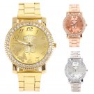 Luxury Bling Crystal Bear Women Girl Unisex Stainless Steel Quartz Wrist Watch