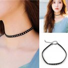 New Classic Gothic Punk Choker Collar Necklace Pendant Black Leather Chain Neck