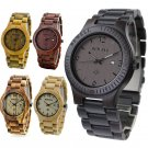 New BEWELL Wooden Men Analog Quartz Watch Date Real Hand Crafted Style