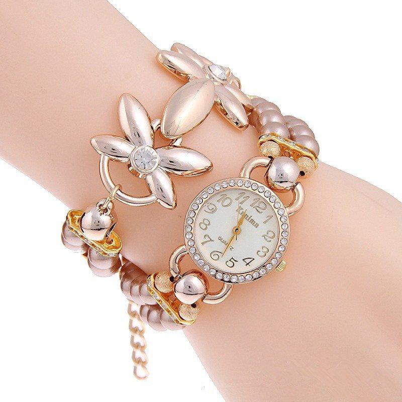 Fashion Luxury Pearl Bracelet Quartz Watches Women Watch Casual Wrist watches