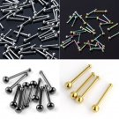10PC Wholesale Mixed Crystal Stainless Steel Nose Bone Stud Ring Piercing 20G