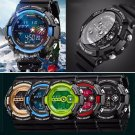 Mens Stainless Steel LED Digital Date Alarm Waterproof Sport Army Quartz Watches