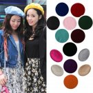 Women's Sweet Warm Wool Winter Beret French Artist Beanie Hat Ski Cap Solid Hat