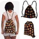 Fashion Unisex Drawstring Backpack Bag 3D Emoji Print Casual Sport Camp Bags New