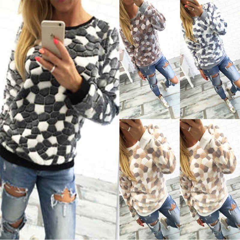 New Women's Long Sleeve Jumper Pullover Tops Ladies Fleece Outwear Coats Hoodie